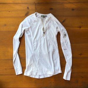 Athleta 1/4 Zip Front Zip Sleeve Athletic Shirt